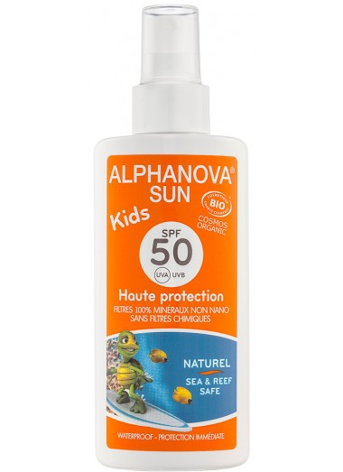 Leche Sola Spray Bio Kids SPF 50 Alphanova Sun