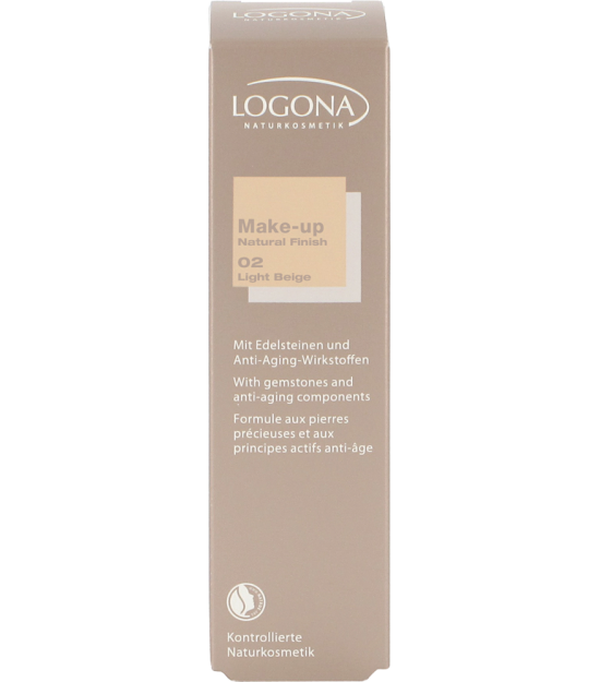 MAQUILLAJE NATURAL FINISH LIGHT BEIGE 02 LOGONA