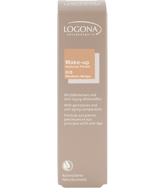 MAQUILLAJE NATURAL FINISH MEDIUM BEIGE 03 LOGONA