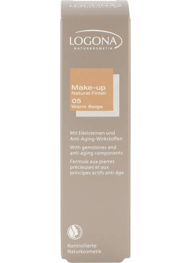 MAQUILLAJE NATURAL FINISH WARM BEIGE 05 LOGONA