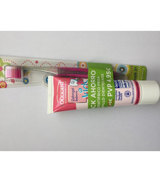 PACK GEL DENTAL KIDS FRESA + CEPILLO DENTAL YAWECO KIDS MAGIC
